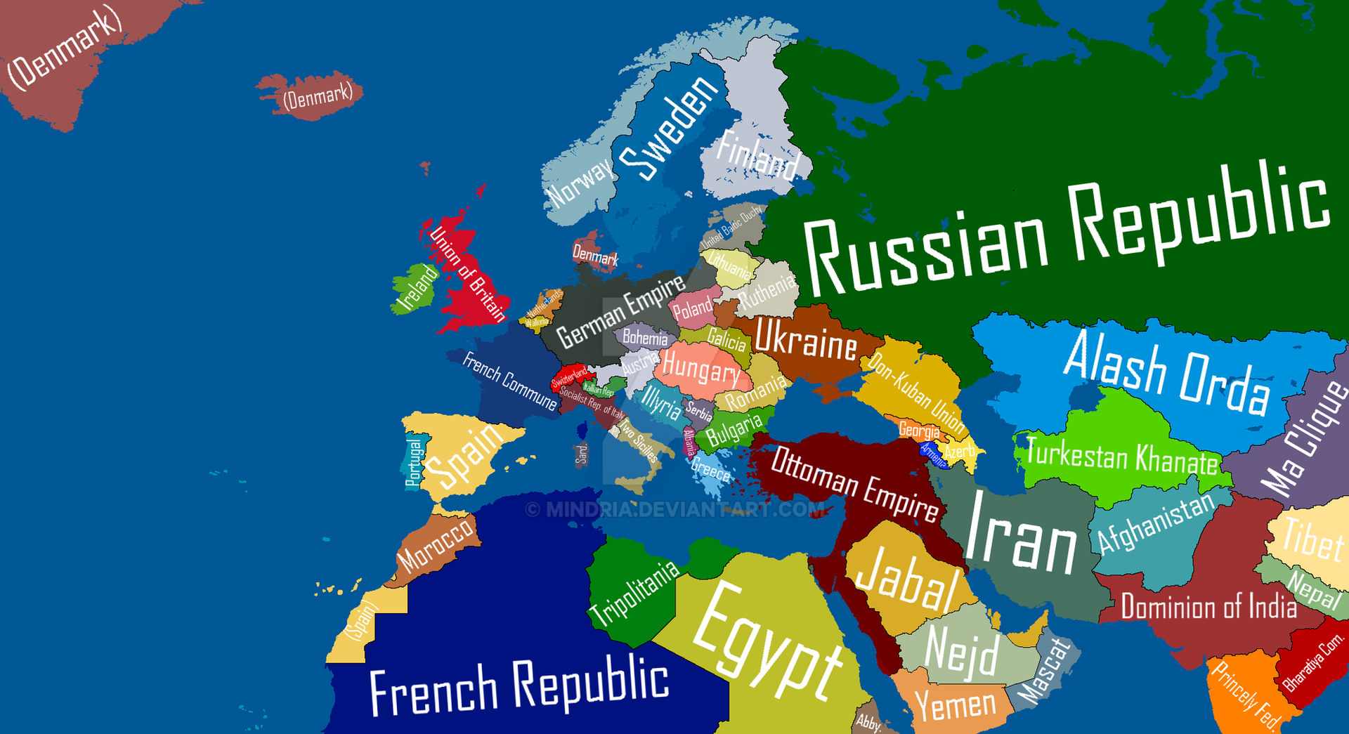 Kaiserreich Map of Europe in 1936 by Mindria by Mindria on ...