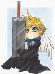 Cloud Chibi love his old sword