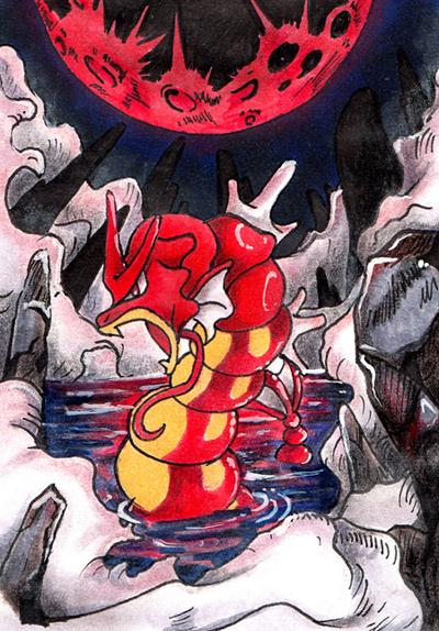 Red moon rising by Kavioli