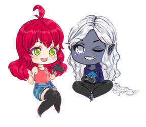 A heart for gaming: Chibi Yumi and Khavy