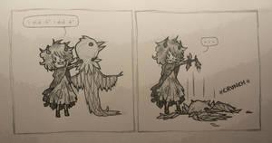 Strix's first raven costume attempt by Despereaux-7