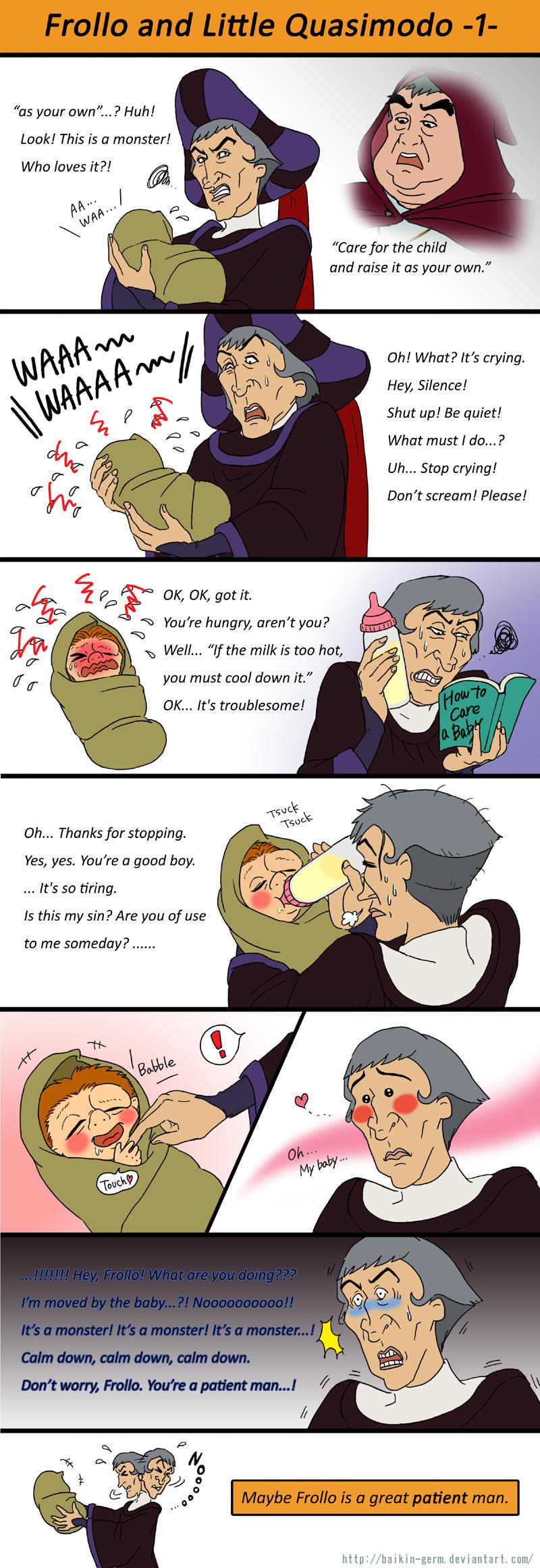 L'image qui roxe du saucisson - Page 2 Frollo_and_little_quasimodo_1_by_baikin_germ-d3ddguz