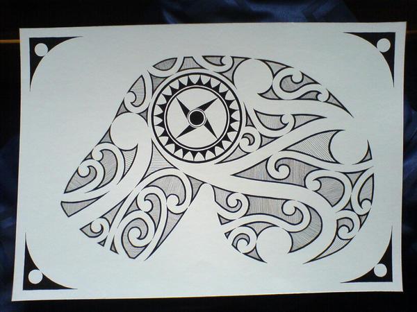 Polynesian tattoo 2 - chest tattoo
