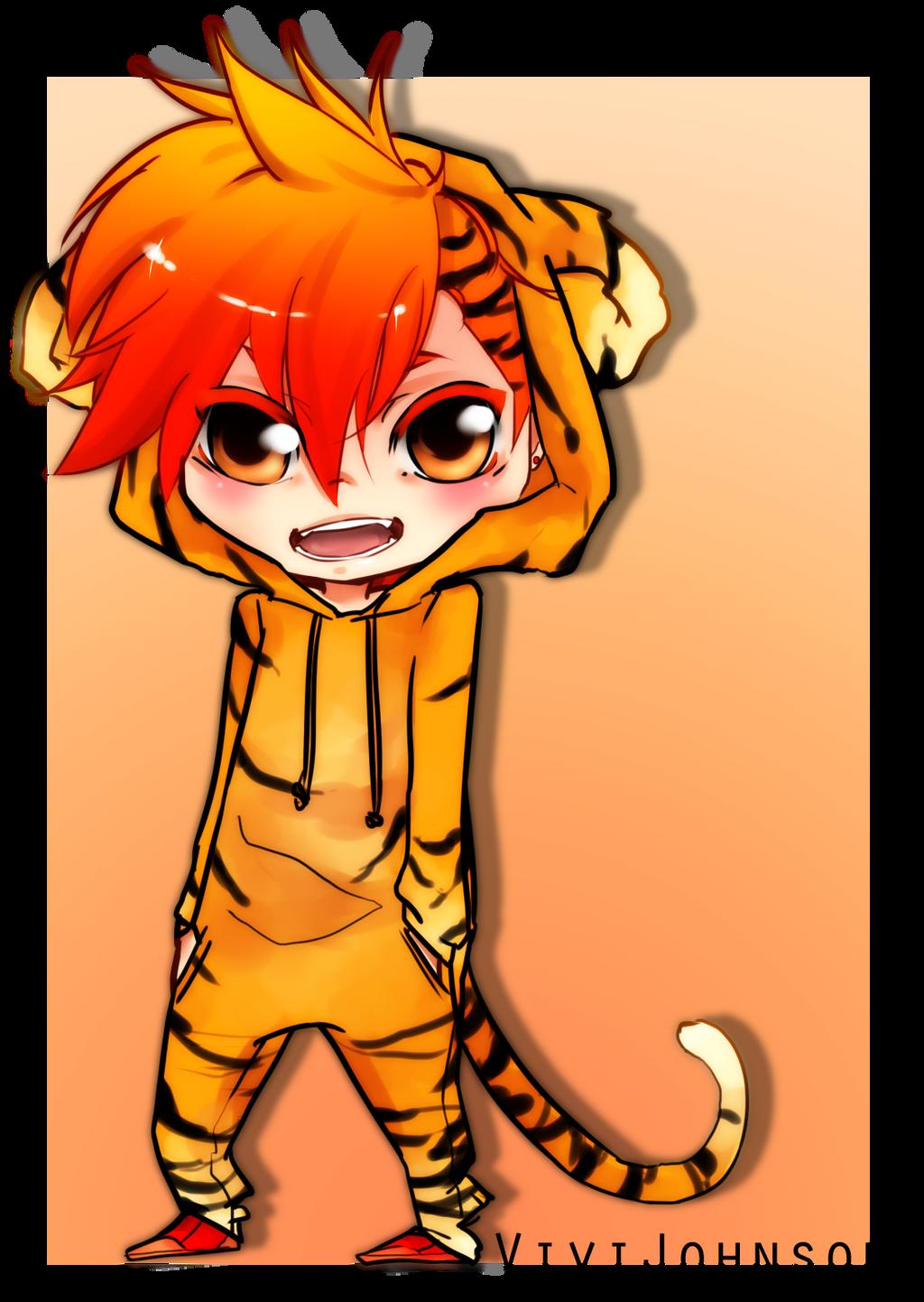 Cute Chibi Tiger Chibi Tiger by Vijohnsyu