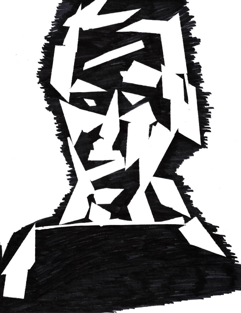 Scotch Tape and Sharpie Portrait by William-John-Holly