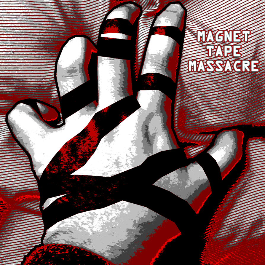 Magnet Tape Massacre Album Cover by William-John-Holly