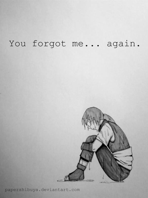 you forgot me again by papershibuya on deviantart