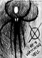 :He's Watching You: by papershibuya