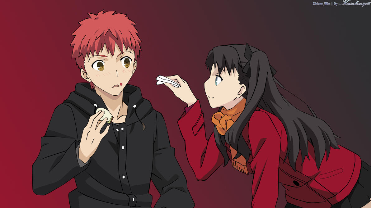 Shirou/Rin In A Date. by Karinkoenig15