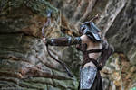 Aela the Huntress with Ancient Nord Helmet