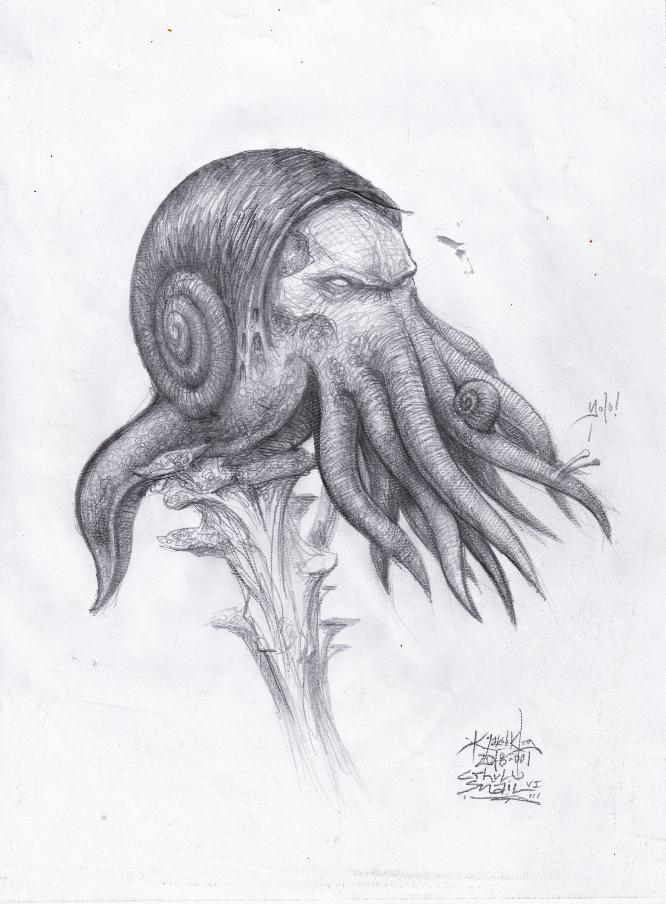 Cthulu Snail -v1 by J4K0644061x