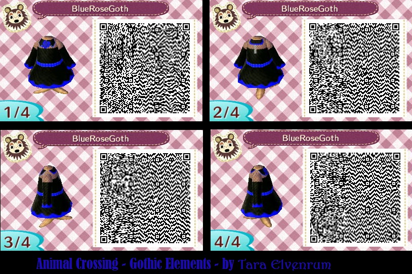 Animal Crossing Blue Rose Goth Gothic Dress By