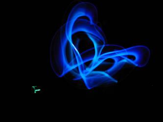 Phil's blue glowsticks. by morslove