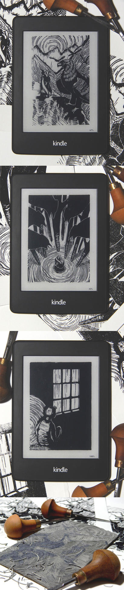 Kindle Lino Prints 2015 by Disty