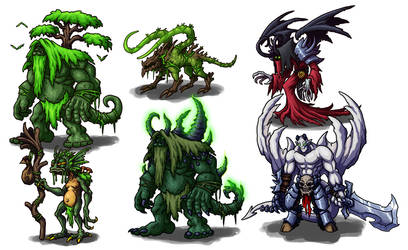 Creature Concepts - The Netherglades by GoldenYak