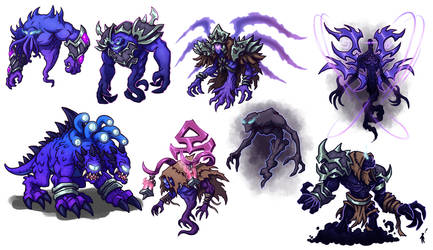 Creature Concepts - Void Monsters 01 by GoldenYak