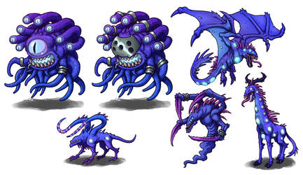 Creature Concepts - Void Monsters 02 by GoldenYak