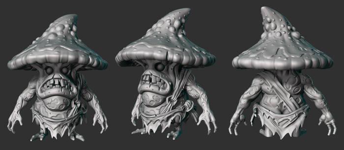 Mushroom Monster Sculpt