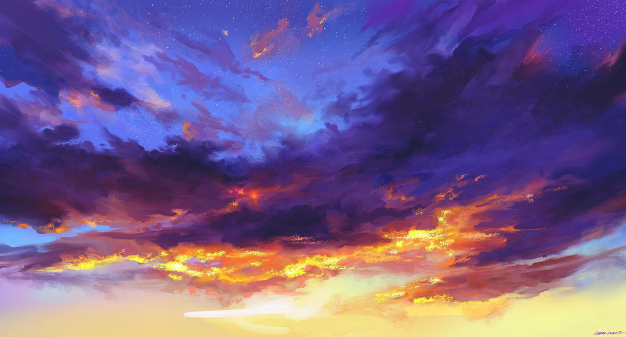 Purple Clouds by DiabolicalChainsaws