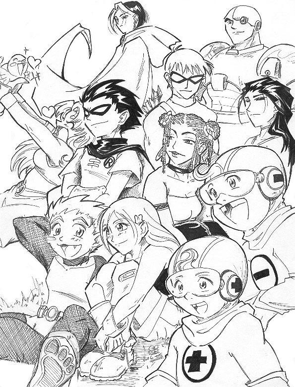 Teen Titans by Eeni