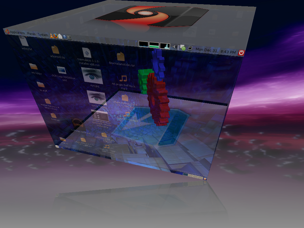 Ubuntu 3d Desktop by 1337-1
