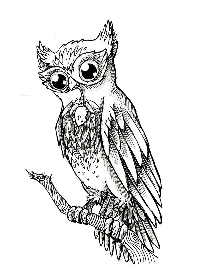 Owl Line Drawing Tattoo : Owl tattoo by petitelasouris on deviantart