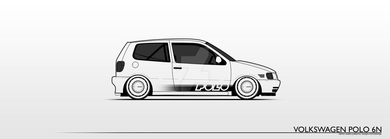volkswagen polo 6n lineart by dariojurkovic on deviantart. Black Bedroom Furniture Sets. Home Design Ideas