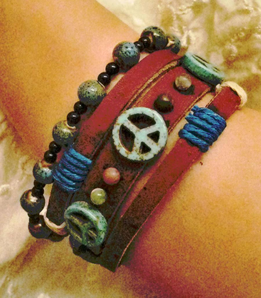 M. Ernest Peace Bracelet by SpaceCadetAmy