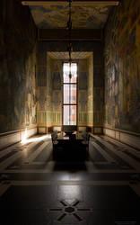 Oslo City Hall - room. Vertical Wallpaper 16:10