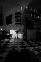 Closed Bakery at Night