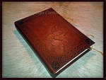 Leather Book in process 3