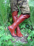 Leather Elven boots (inspired boots of Elrond)