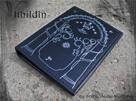Leather note book Ithildin (inspired Moria, LOTR) by Svetliy-Sudar