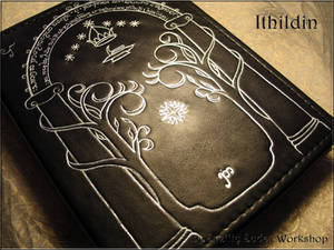 Leather note book Ithildin (inspired Moria, LOTR)