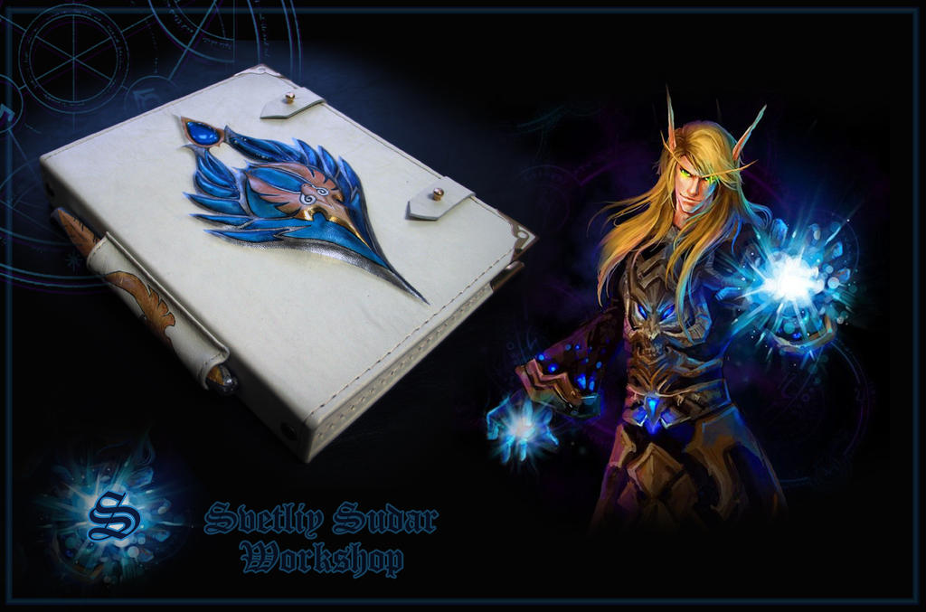 Leather Grimoire of the High Elves by Svetliy-Sudar