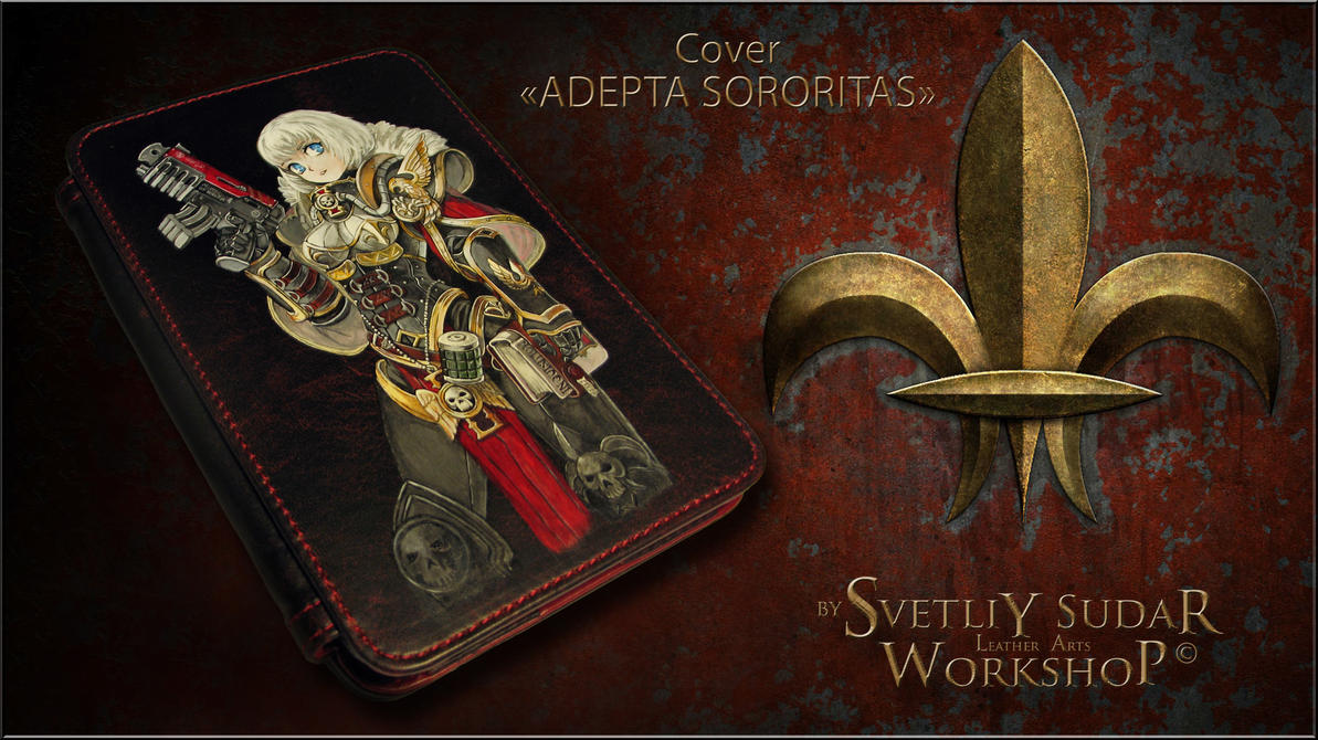 Leather cover for e-book Adepta Sororitas by Svetliy-Sudar