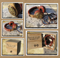Steampunk headphones  - Watchmaker