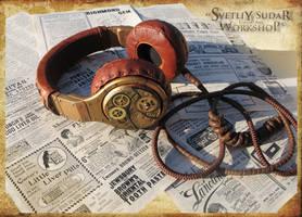Steampunk headphones - Watchmaker by Svetliy-Sudar