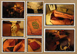 Hobbit's leather back pack(inspired Bilbo Baggins)