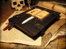 Leather diary of Grey Knights by Svetliy-Sudar