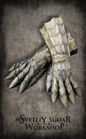 Leather Gloves of Deathbone Guardian by Svetliy-Sudar