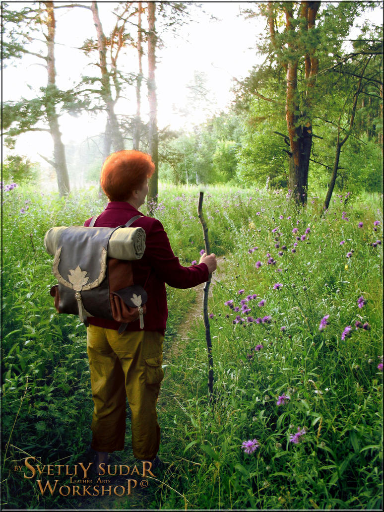 Bilbo Baggins -Hobbit's leather backpack by Svetliy-Sudar