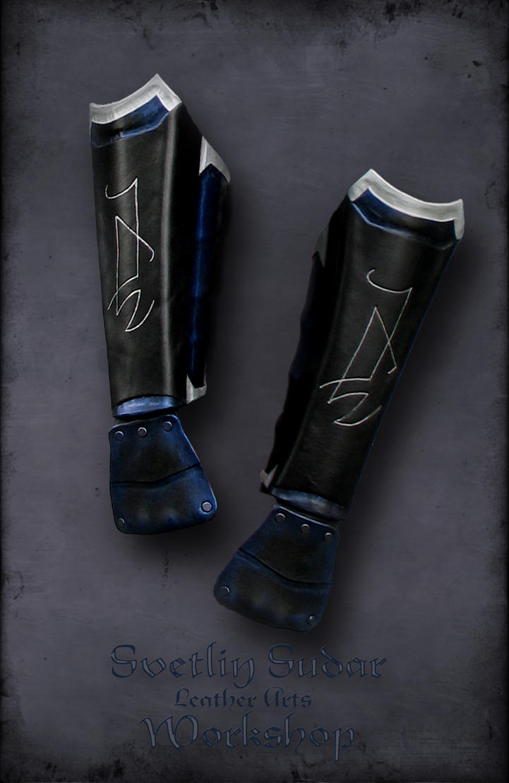 Druchii assassin's male leather armor - Bracers by Svetliy-Sudar