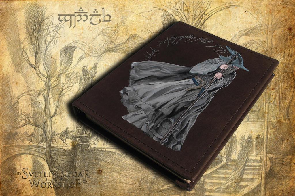 Leather Notebook Olorin (LOTR) by Svetliy-Sudar