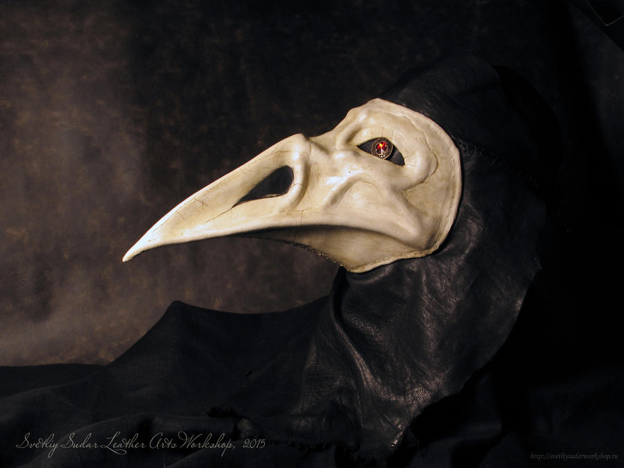 Leather mask - The Plague Raven by Svetliy-Sudar