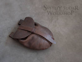 Mercenary's equipment - Leather Belt Bag by Svetliy-Sudar