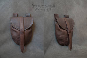 Mercenary's equipment - Leather Belt Bag by Svetliy-Sudar