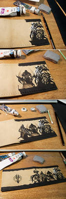 Leather cover Darksiders - WIP
