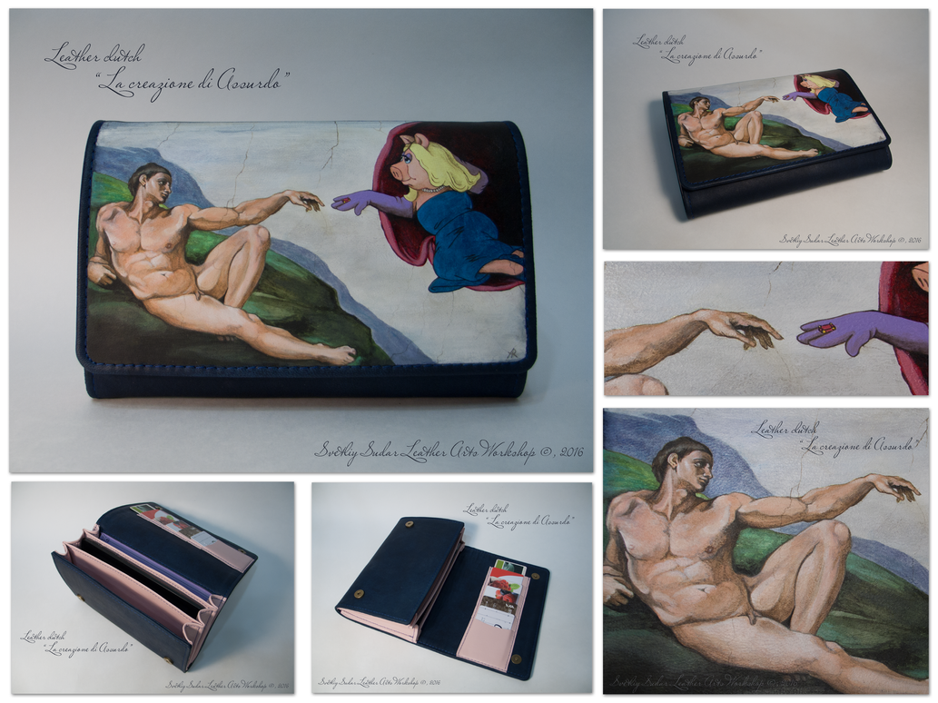 Leather clutch La creazione di Assurdo by Svetliy-Sudar