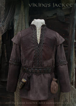 Viking Leather Jacket (inspired Ragnar Lothbrok)